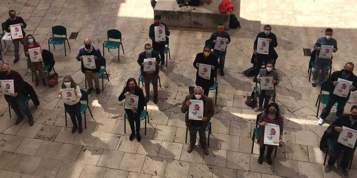 Presentació de la nova campanya d\'Enllaçats per la Llengua a València, el 23 d\'abril del 2021