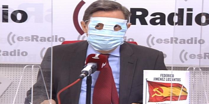 Federico Jiménez Losantos perdent els papers en directe
